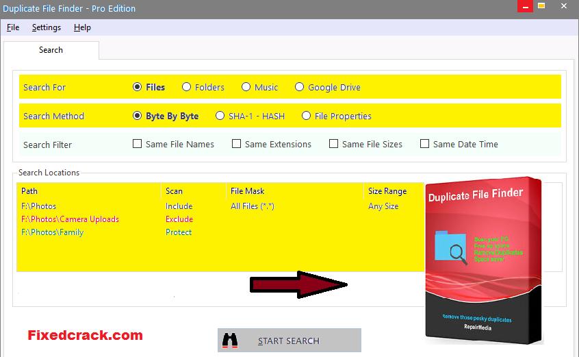 Duplicate Media Finder Keys